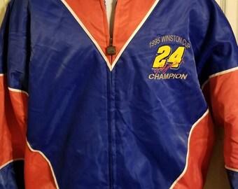 Nutmeg 1995 Winston Cup Champion #24 Jeff Gordon Bomber Jacket NASCAR Size Large