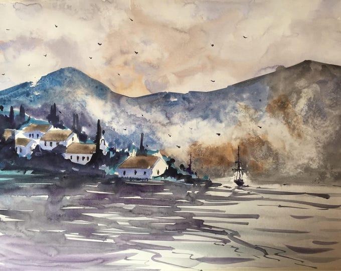 Lago di Garda in watercolour