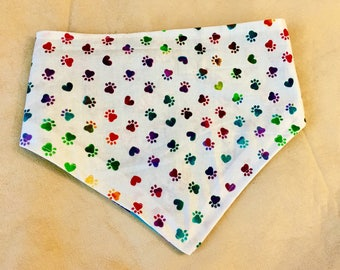 COLORFUL PAWS- Custom Made Bandana - Unique Pet Accessory