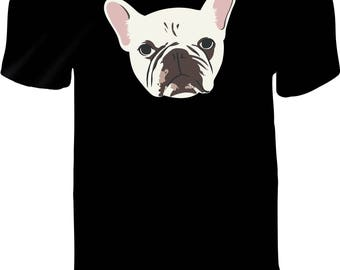 FRENCH BULLDOG Spartacus Shirt Custom Printed Vinyl Press T-Shirt Pre-Order - UNISEX T-Shirt - Frenchie Fans - Unique Pet Lovers T Shirt