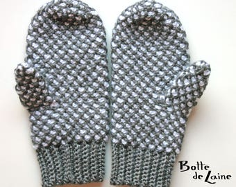 Mittens ARTIC, Tunisian Crochet for women