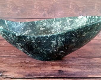 Stone Sculpture, Natural Stone Bowl, Polished Stone Bowl, Stone Bowl