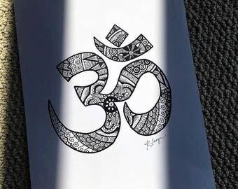 Hand-Drawn Om Symbol