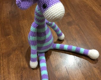 Crochet giraffe, amigurumi giraffe, nursery decor, soft toy, giraffe