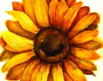 Farmhouse wall decor Country kitchen Sunflower art Sunflower painting Sunflower watercolor Sunflower artwork  PaintingOnlineStore