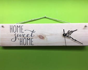 "Wall clock ""home sweet home"""