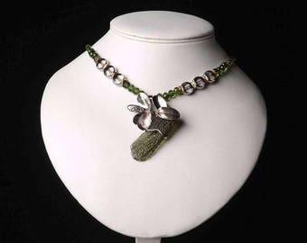 Moldavite necklace - Silver 925/1000