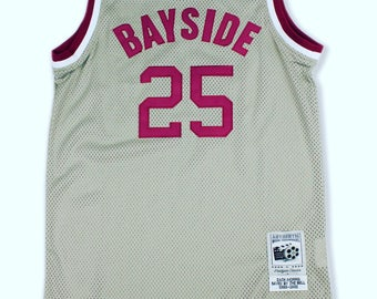 """Saved by the bell bayside  """"zach morris"""" basketball jersey"""