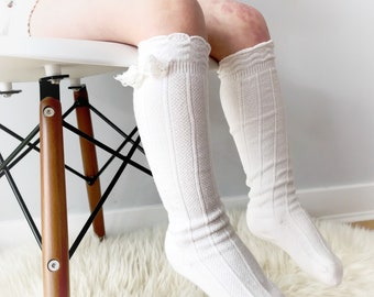 Knee high socks, toddler socks, school girl socks, knee high baby socks, baby socks, photography prop, baby shower gift, birthday outfit