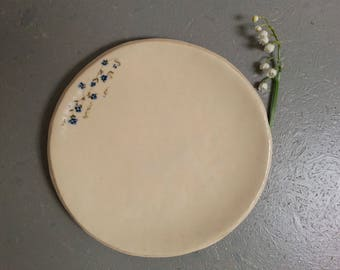 Plate forget-me-not ceramic