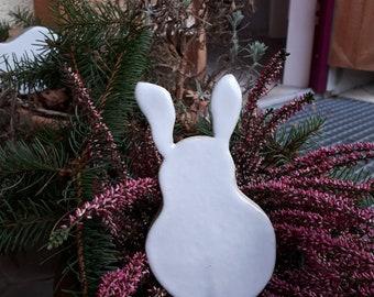 Ceramic Garden Plug Easter Bunny
