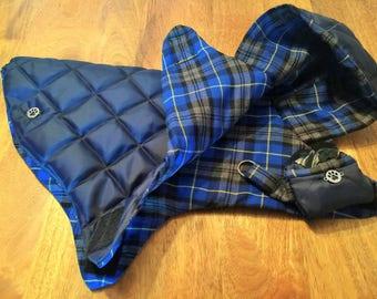 Luxury Handmade Quilted Dog Coat.