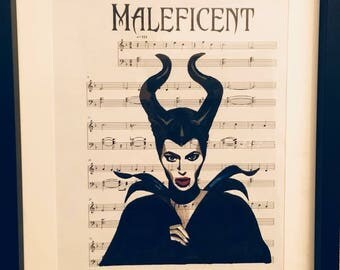 Malificent sheet music art
