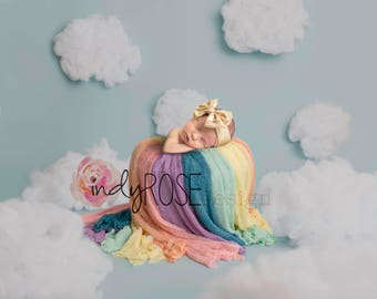 Rainbow baby digital backdrop