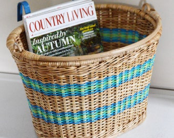 Bicycle weaved basket