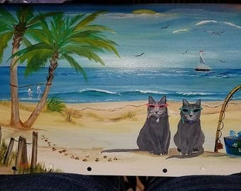 Hand Painted Mailboxes, Whimsical Mailboxes, Custom,  Personalized Mailboxes, Your Animals In Your Favorite Theme, Creative  Animal Art