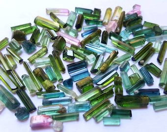 TOP QUALITY natural mix color tourmaline transparent crystals 100 carats jewellery size from Afgha.