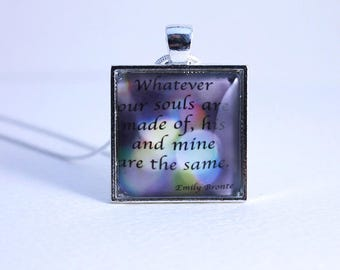 Wuthering Heights Jewellery - Pendant necklace - Bronte quotes - Wuthering Heights - Quote necklace - Literary gifts - Christmas gift