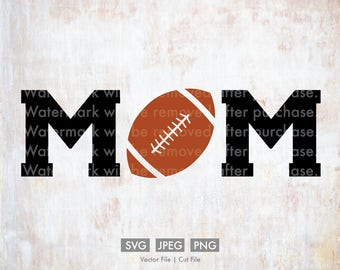 Football Mom - Vector / Cut File, Silhouette, Cricut, SVG, PNG, JPEG, Clip Art, Stock Photo, Download, Sports, Team, Player, Games, Ball