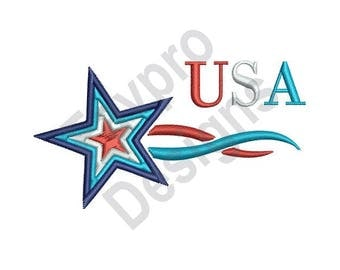 Usa Star - Machine Embroidery Design