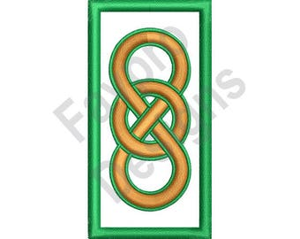Celtic Knot Rectangle - Machine Embroidery Design