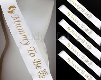Mummy to be, Grandma to be, Nanny to be, Aunty to be, Big Sister to be, Baby Shower Sash, Gender Reveal, Pink sash, blue sash, white sash