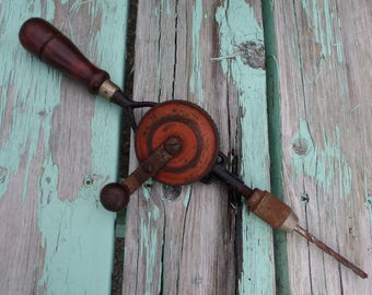 Antique Craftsman Eggbeater Style Hand Drill