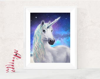 Unicorn Painting,Unicorn Gift, Unicorn Art, Unicorns, Unicorn Print, Unicorn Poster, Unicorn Picture, Unicorn Decor-Sells UK/USA & Australia