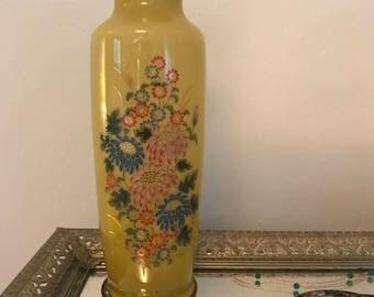 Vintage Gilded Glass Vase