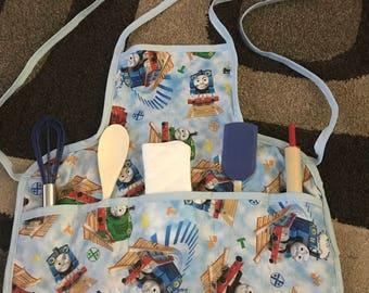 Thomas kids apron with utensils