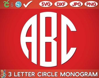 Circle Monogram SVG Font Letters Alphabet Initial Circle Monogram svg,clipart,eps,svg,Cutting File Cricut Silhouette Studio Sure Cut