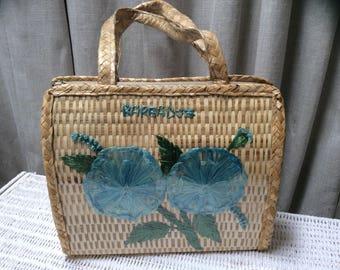 1960's ' Barbados '  straw holiday bag Vintage 60's Sixties shoulder bag