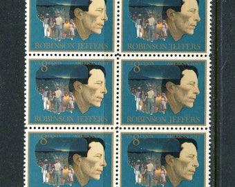 American Poet Robinson Jeffers 10 Stamps Unused /USA Postage Stamps