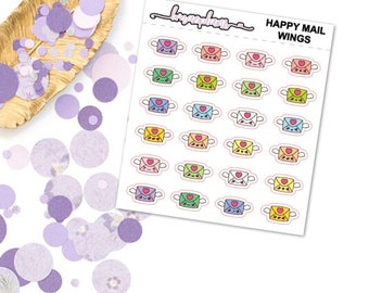 Happy Mail Wings - Planner Functional Stickers Erin Condren Happy Planner