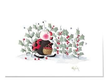 Happy Garden X7-Merry Berry Christmas Card