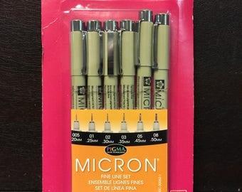 Micron 6 Pen Set