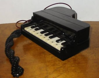 Vintage Columbia Piano Touch Tone Phone 1985 Black