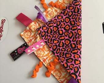 Pink & orange cheetah lovie