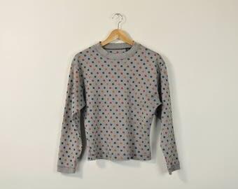 Vintage Polka Dot Aeropostale Top · Long Sleeve 90s Shirt · Vintage 80s Shirt · Polka Dot Long Sleeve Shirt · Oversize Long Sleeve Top · M mnbscDI