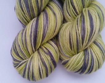 Wolfsbane Grenade self striping Town sock base 75 Merino 25 Nylon Sock yarn