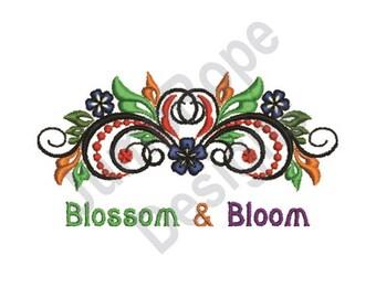 Blossom & Bloom - Machine Embroidery Design