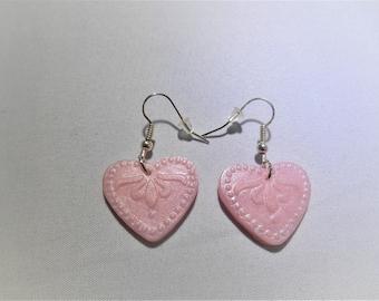 Mint earrings,beach earrings,candy earrings, summer earrings,gift for daughter,hook earrings,girlfriend gift, heart earrings,flower earrings
