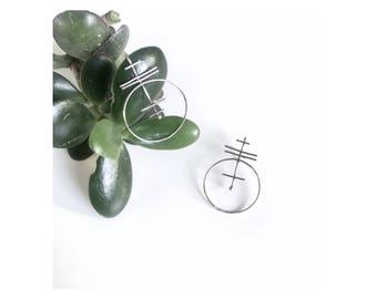 Silver Totems earrings