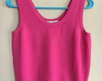 Vintage hot pink crop top