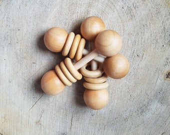 Classic Rattle // Wood Teether Toy