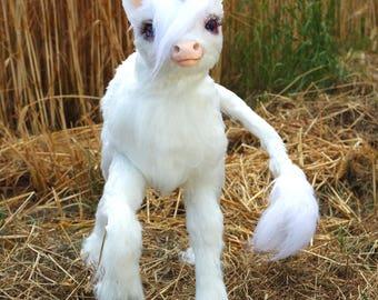 Posable Baby Unicorn Art Doll Handmade