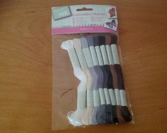 set of 8 embroidery thread