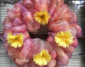 Deco mesh Spring/Summer wreath