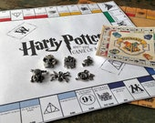 Harry Potter, Monopoly, 8 or 10in Travel Set, Harry Potter Game, Handmade, Harry Potter, Monopoly Set, Harry Potter Gifts, Harry Potter Monopoly
