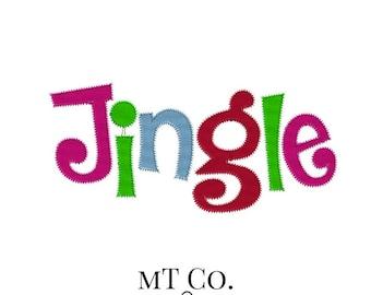 Jingle Applique Design 5x7 6x10